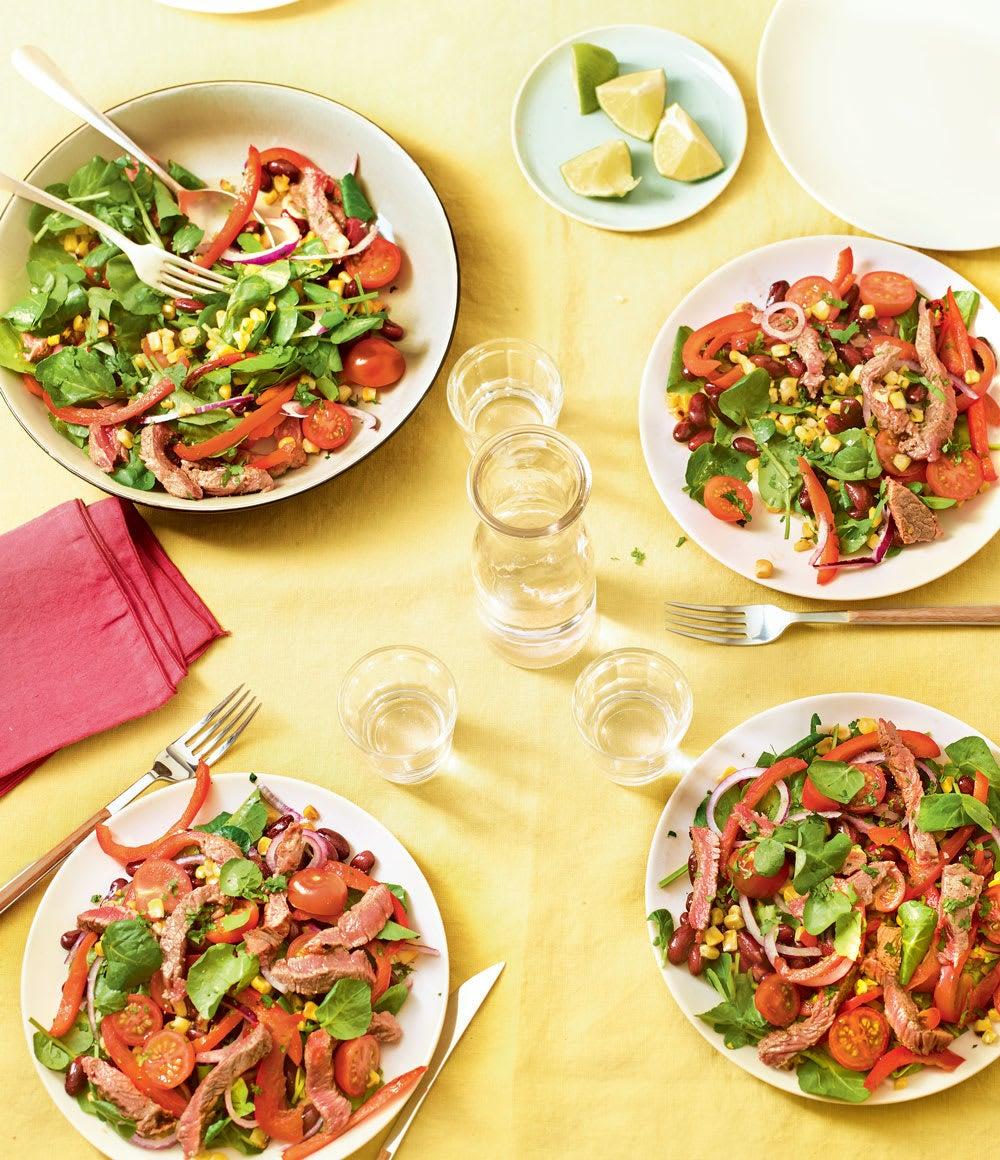 Photo de/du Salade épicée au steak et maïs grillés par WW