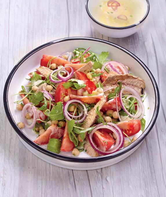 Photo de/du Salade aux pois chiches et aux sardines par WW