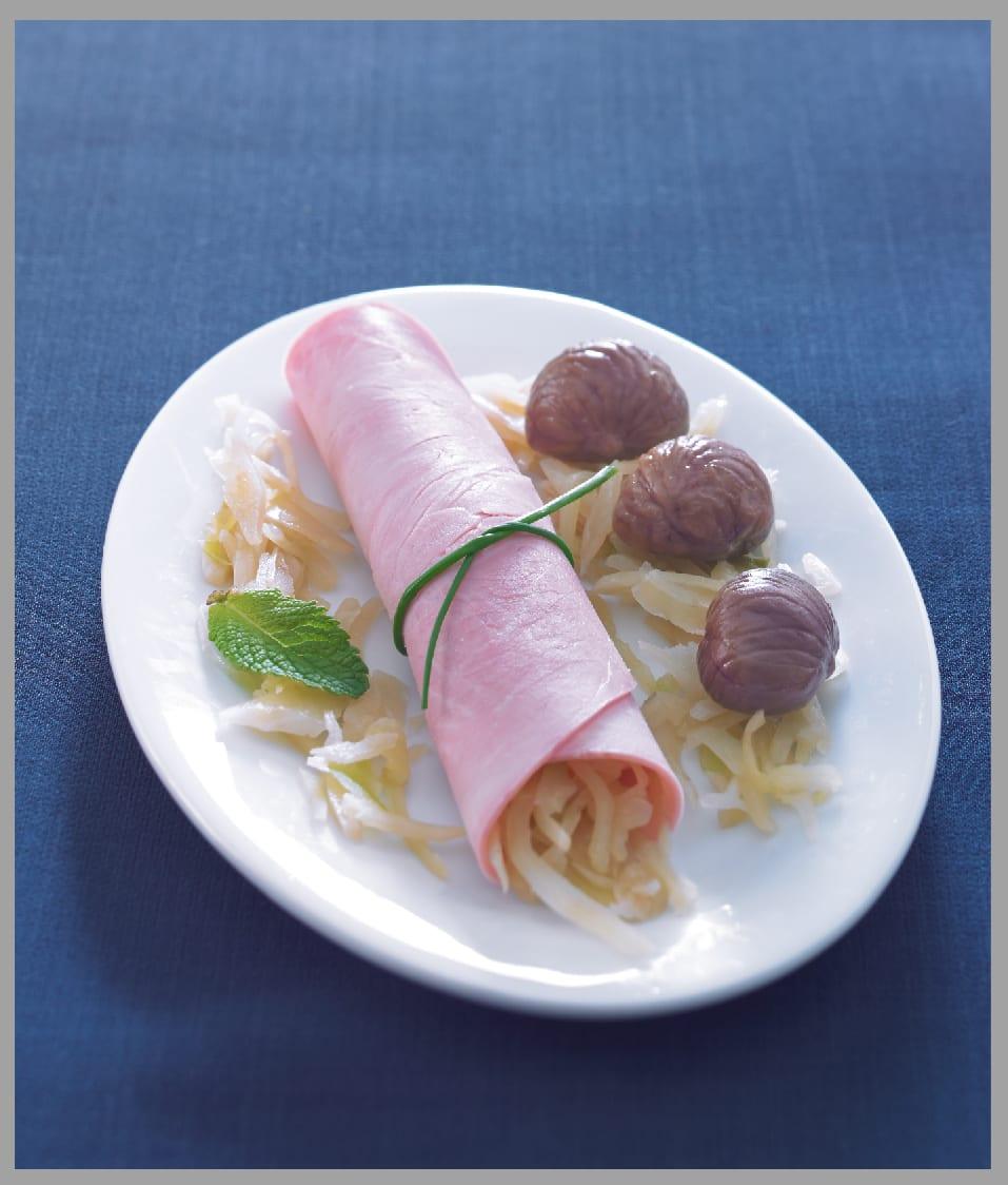 Photo de/du Rouleaux de jambon au chou et aux châtaignes par WW