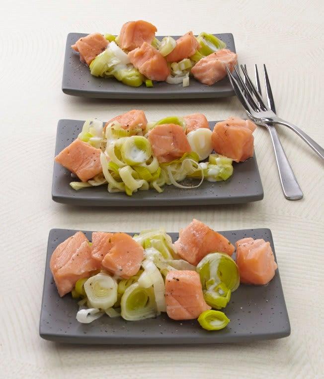 Photo de/du Fondue de poireaux au saumon par WW