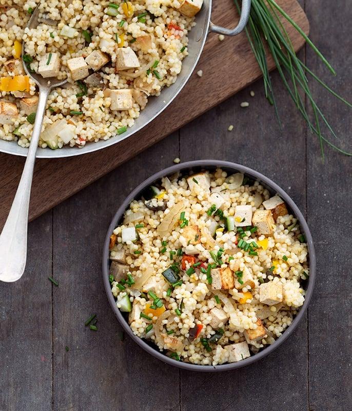 Photo de/du Méli-mélo de blé, tofu et légumes par WW