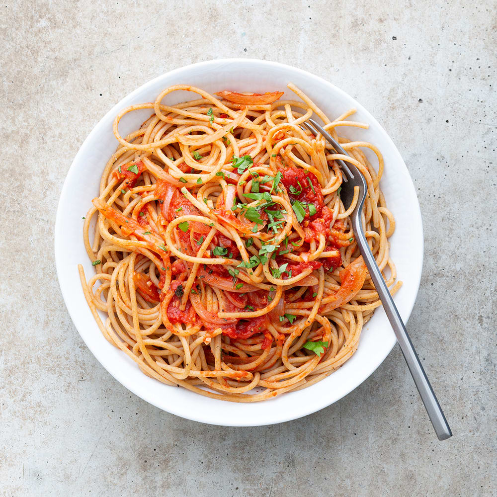 Photo de/du Spaghettis sauce tomate maison par WW