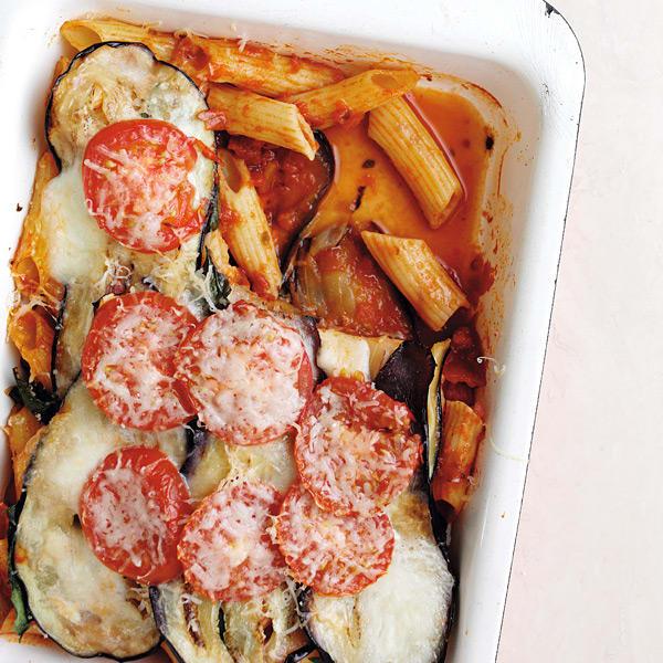 Photo de/du Gratin de pâtes à l'aubergine et à la tomate par WW