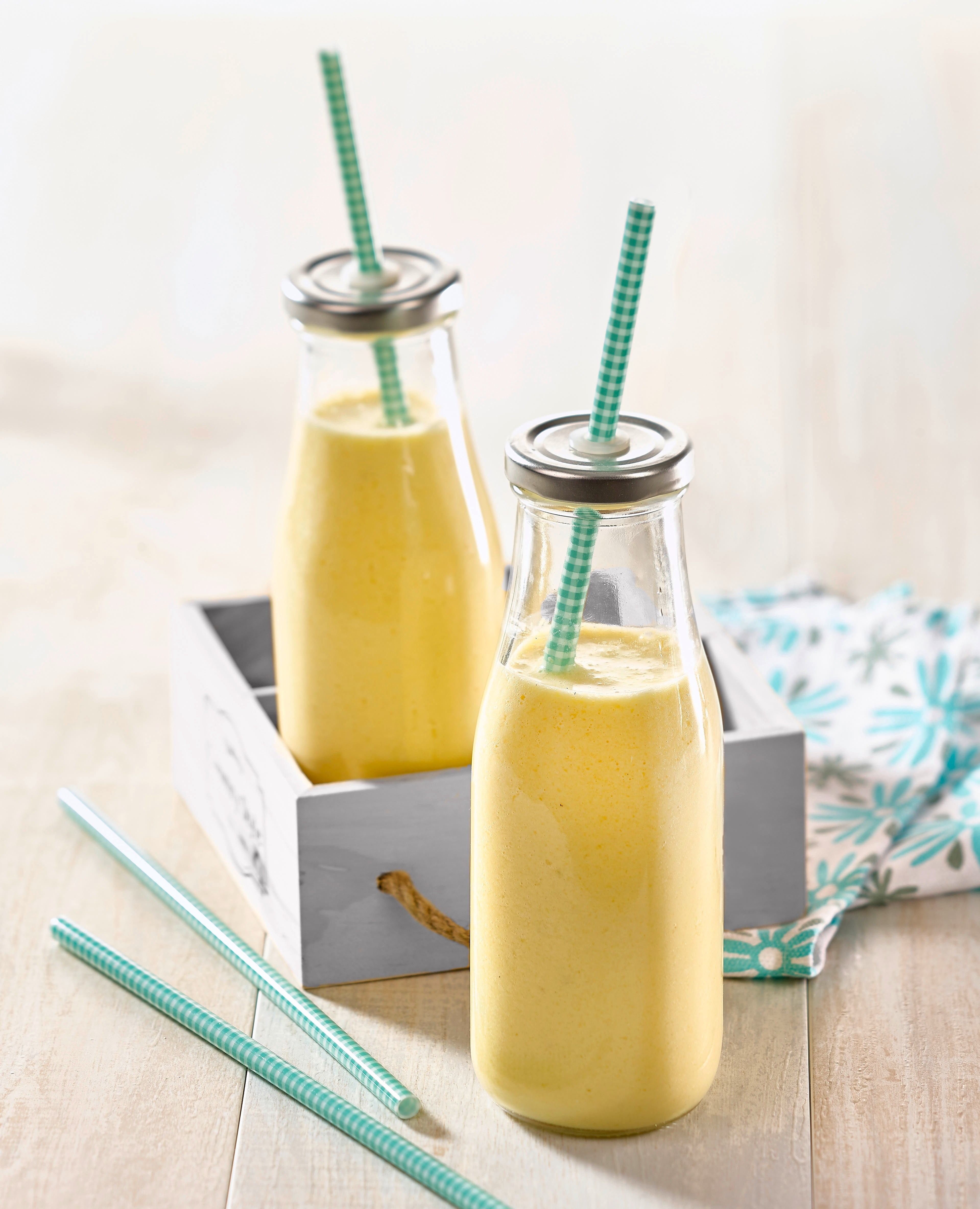 Photo de/du Smoothie mangue, banane et vanille adapté au Thermomix® par WW