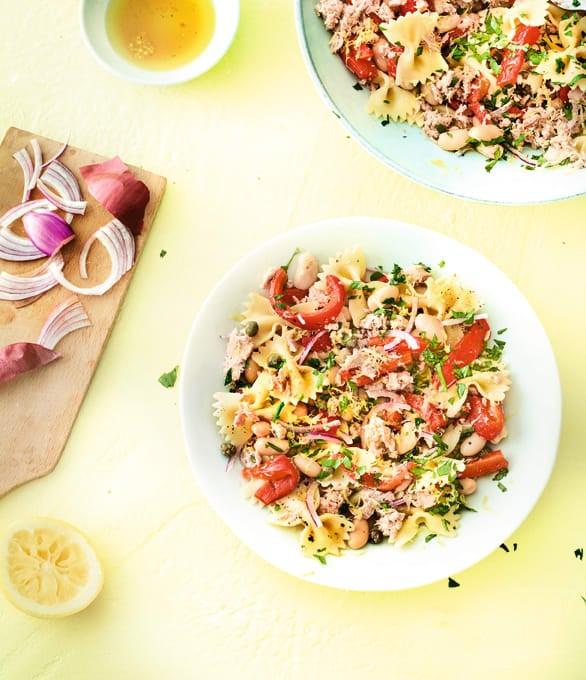 Photo de/du Salade de pâtes au thon et haricots blancs par WW