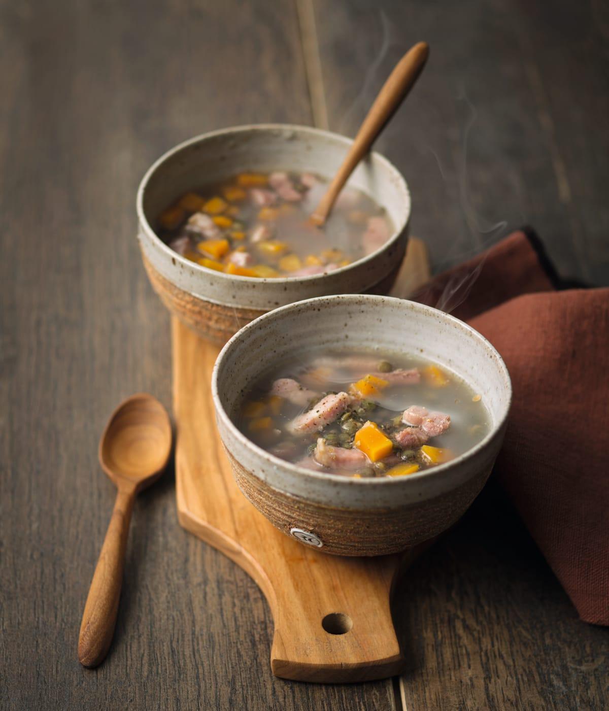 Photo de/du Soupe de lentilles aux lardons par WW