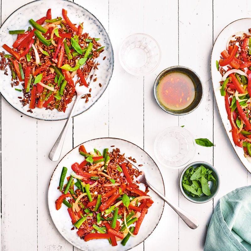 Photo de/du Salade de riz rouge de Camargue par WW