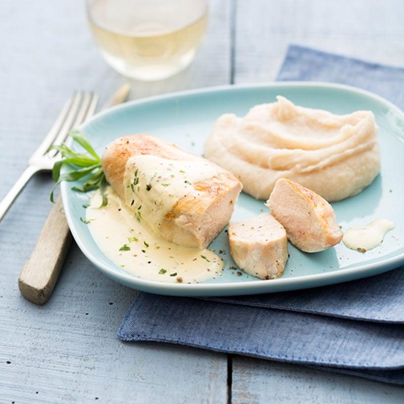 Photo de/du Blanc de poulet à l'estragon et sa purée aux haricots blancs par WW