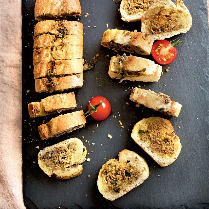 Photo de/du Garlic bread façon provençale par WW