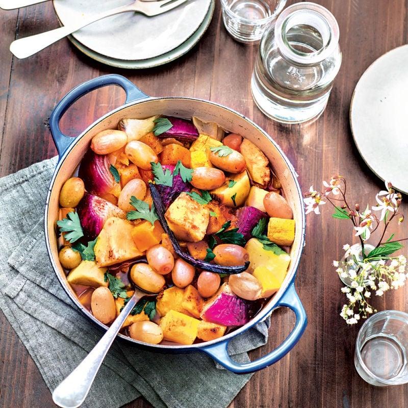 Photo de/du Daube de légumes d'hiver aux épices douces et raisins frais par WW