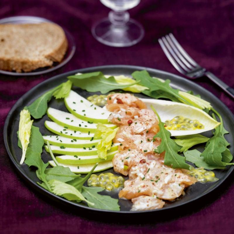 Photo de/du Carpaccio de saumon, marinade comme un tandoori par WW