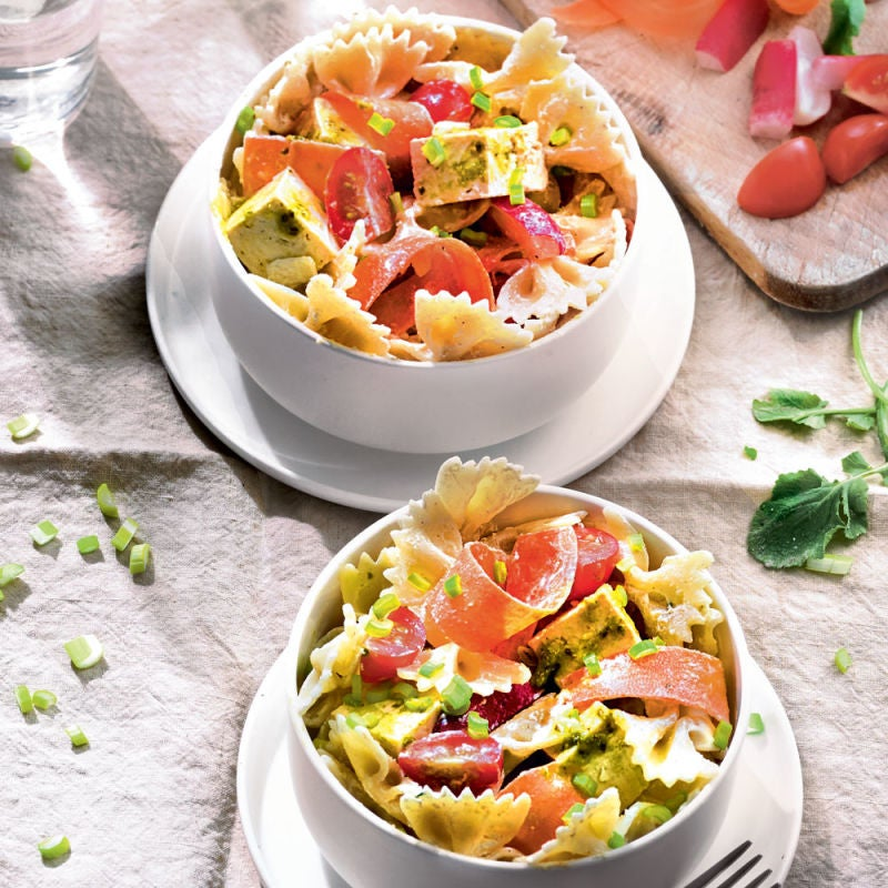 Photo de/du Salade de pâtes au tofu mariné par WW