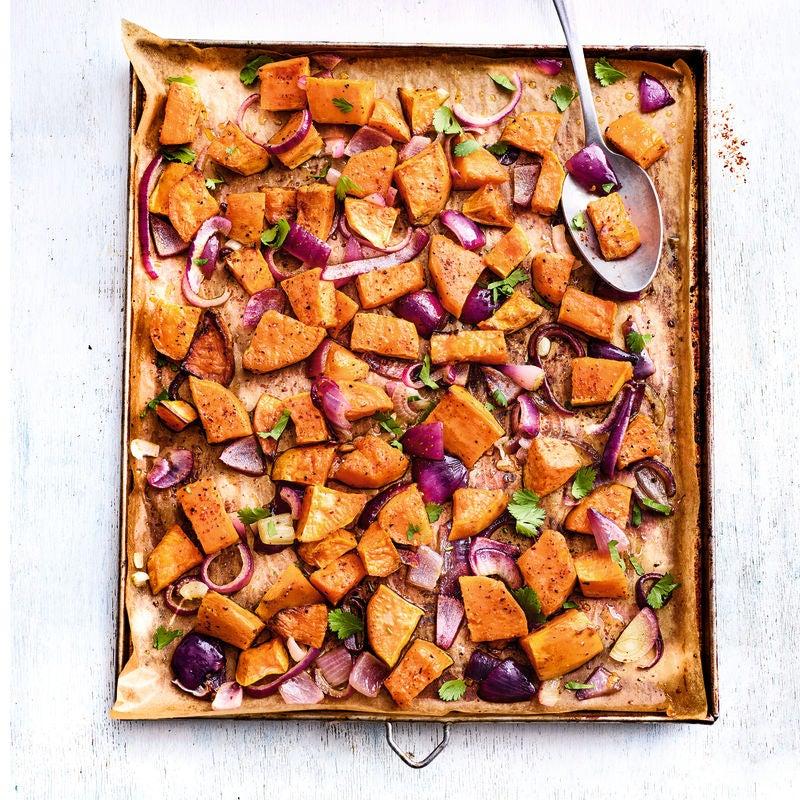 Photo de/du Patate douce rôtie aux oignons rouges par WW