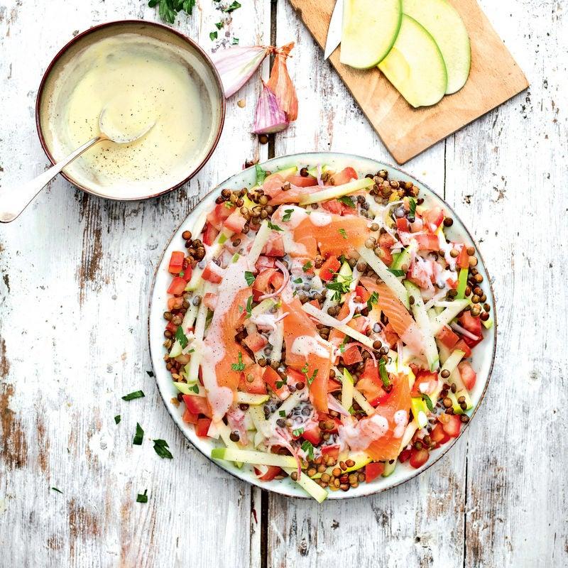 Photo de/du Salade de lentilles au saumon par WW