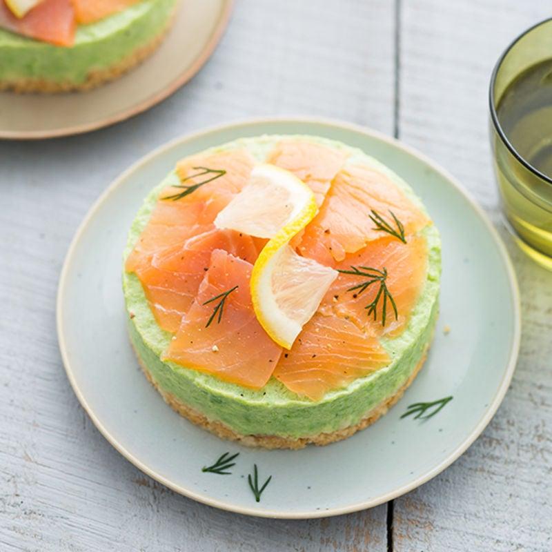 Photo de/du Cheesecake saumon petits pois par WW