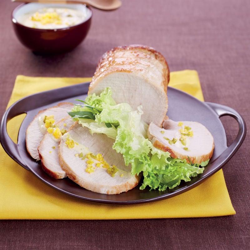 Photo de/du Rôti de porc froid, sauce gribiche par WW
