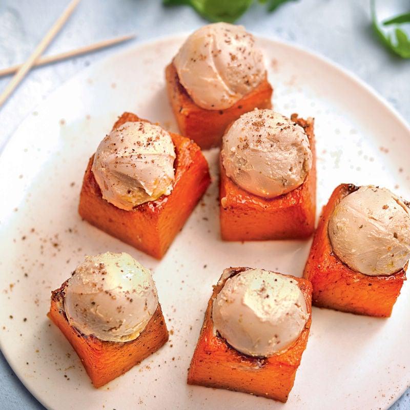 Photo de/du Cubes de potiron aux billes de foie gras par WW
