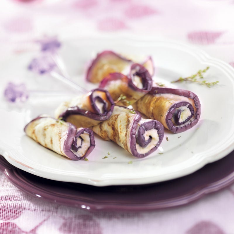 Photo de/du Rouleaux d'aubergine à la crème d'ail et au thym par WW