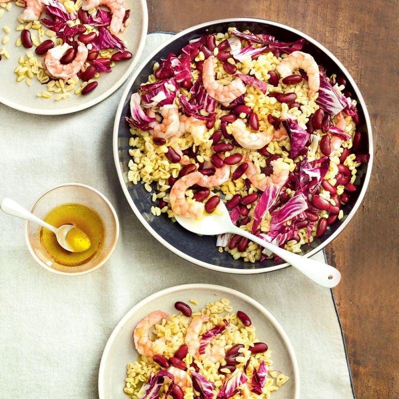 Photo de/du Salade de blé aux crevettes roses par WW
