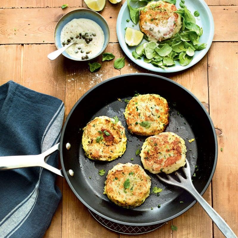 Photo de/du Potatoe cake au crabe et aux herbes fraîches par WW