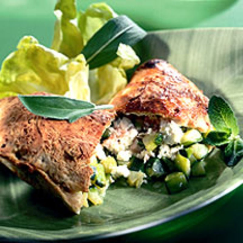 Photo de/du Calzone aux courgettes par WW