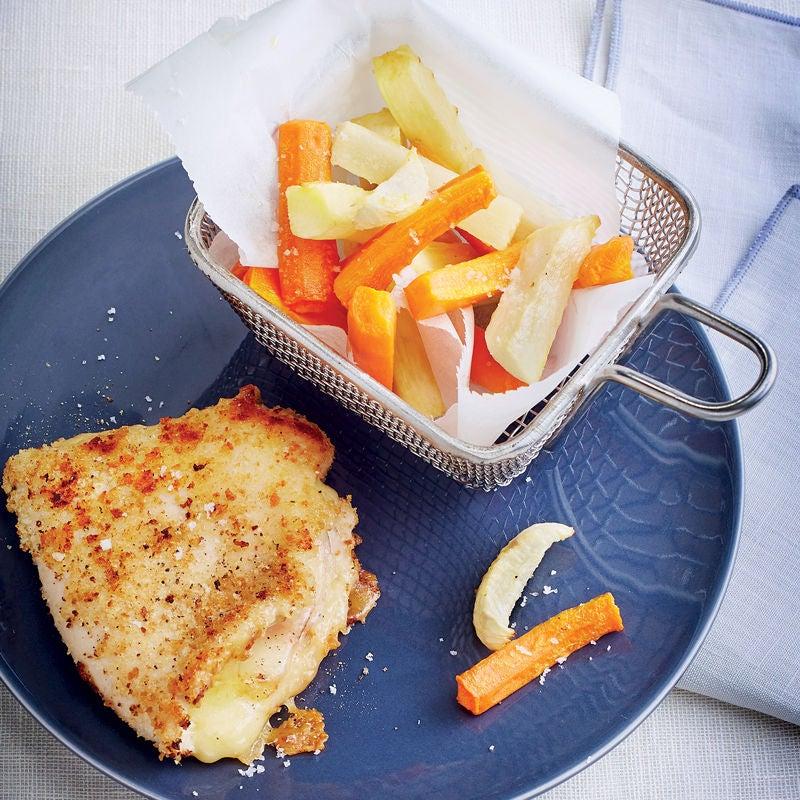 Photo de/du Cordon bleu, frites de légumes racines par WW