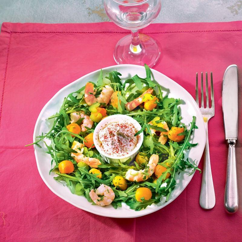 Photo de/du Salade fraîcheur aux crevettes et crème Chantilly salée par WW