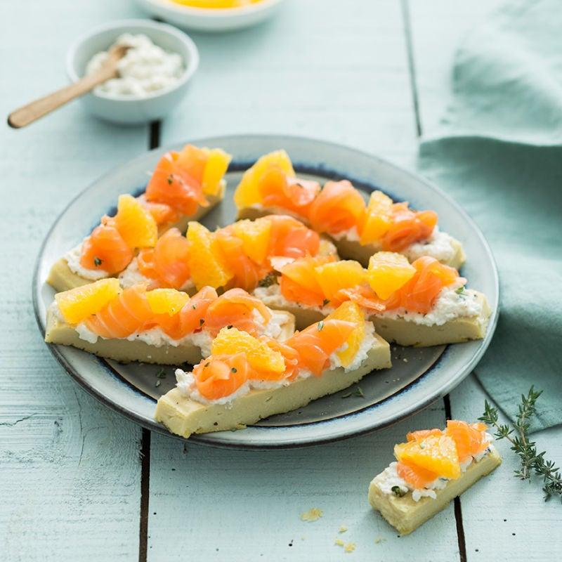 Photo de/du Panisse au saumon fumé et à l'orange par WW