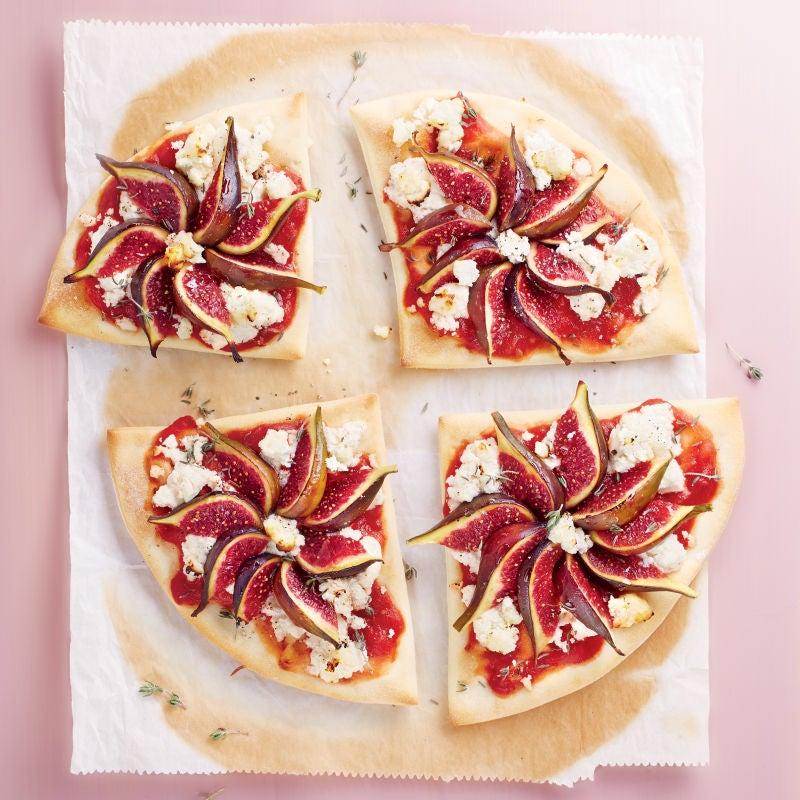 Photo de/du Pizza au chèvre frais et aux figues par WW