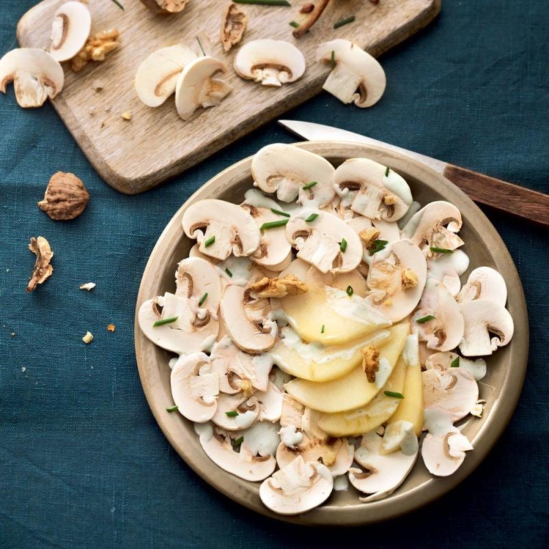 Photo de/du Carpaccio de champignons aux poires et roquefort par WW