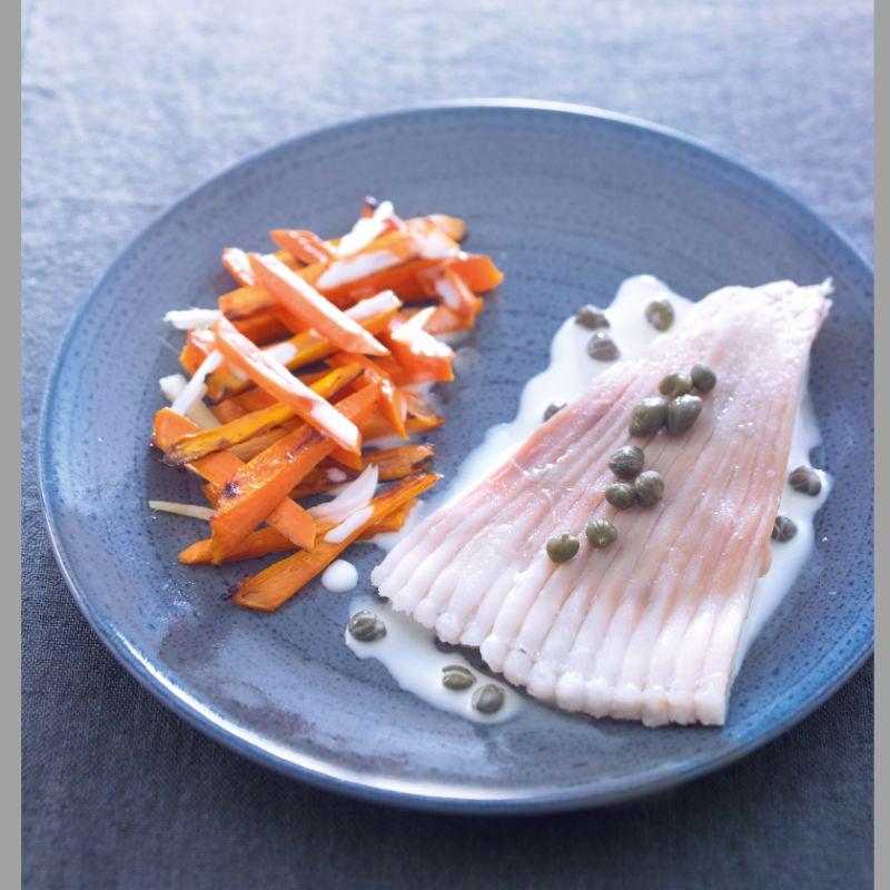 Photo de/du Raie aux carottes grillées et au gingembre par WW