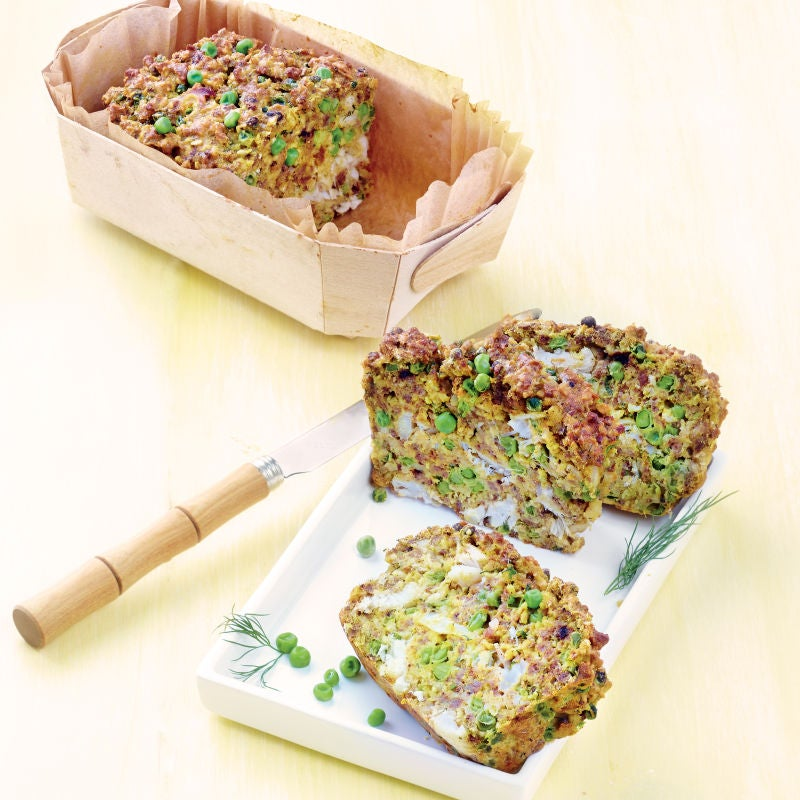 Photo de/du Cake au cabillaud et aux petits pois curry par WW