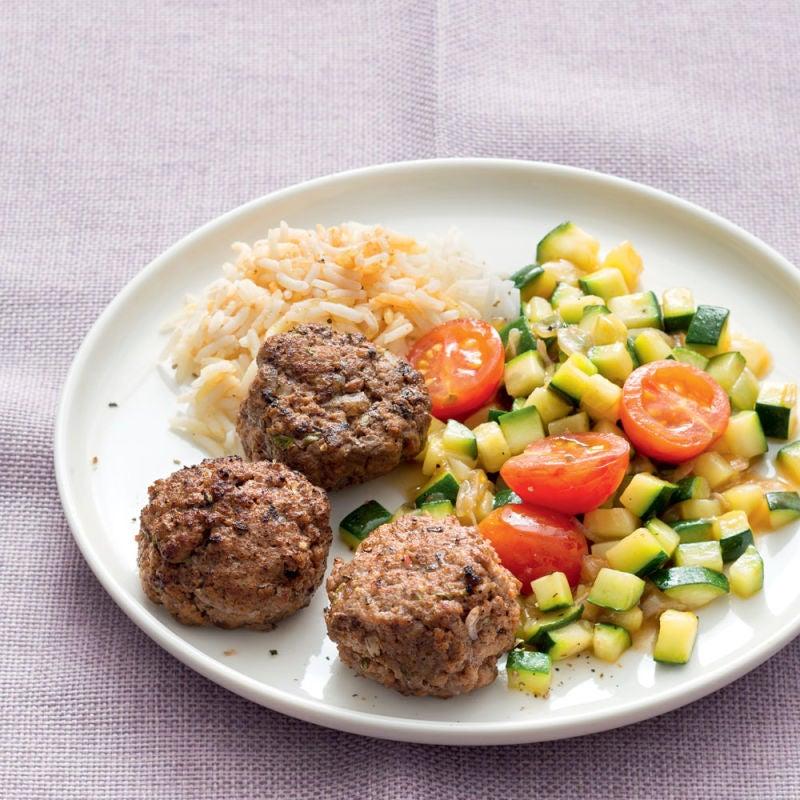 Photo de/du Boulettes de bœuf aux petits légumes et au riz par WW