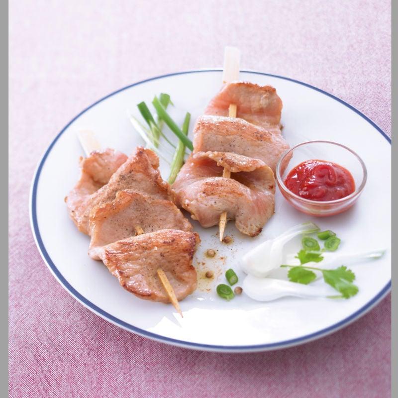 Photo de/du Brochettes de porc aux épices façon asiatique par WW