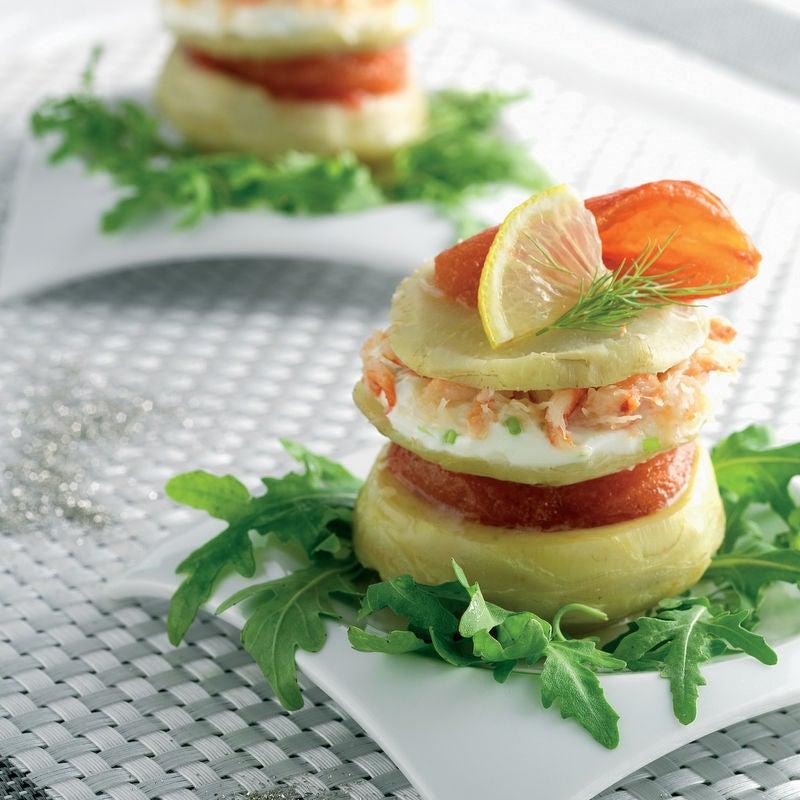Photo de/du Millefeuille d'artichaut, tomates confites et crabe par WW