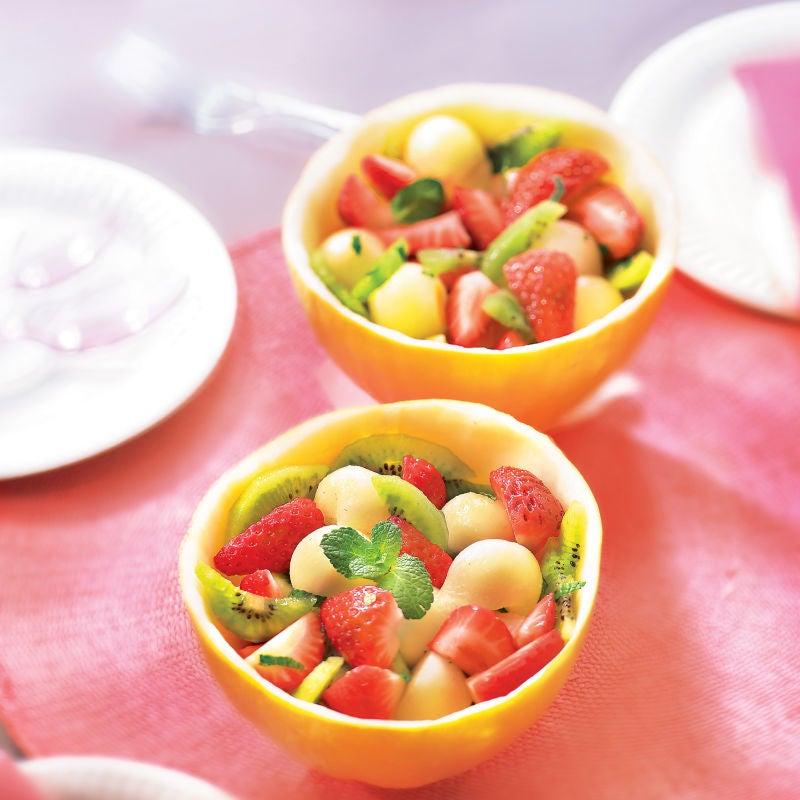 Photo de/du Salade de melon canari aux fraises par WW
