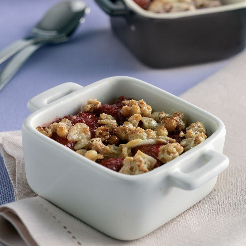 Photo de/du Crumble pomme-framboises par WW