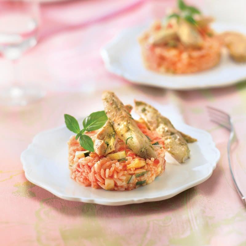 Photo de/du Aiguillettes de poulet parfumées, riz estival par WW