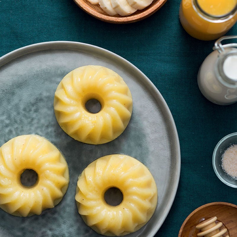 Photo de/du Bana-cotta au miel et lait d'amande par WW