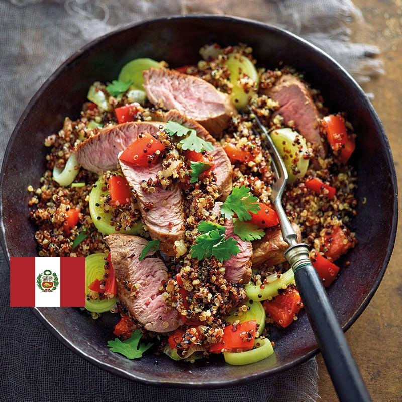 Photo de/du Quinoa frit avec filet d'agneau par WW