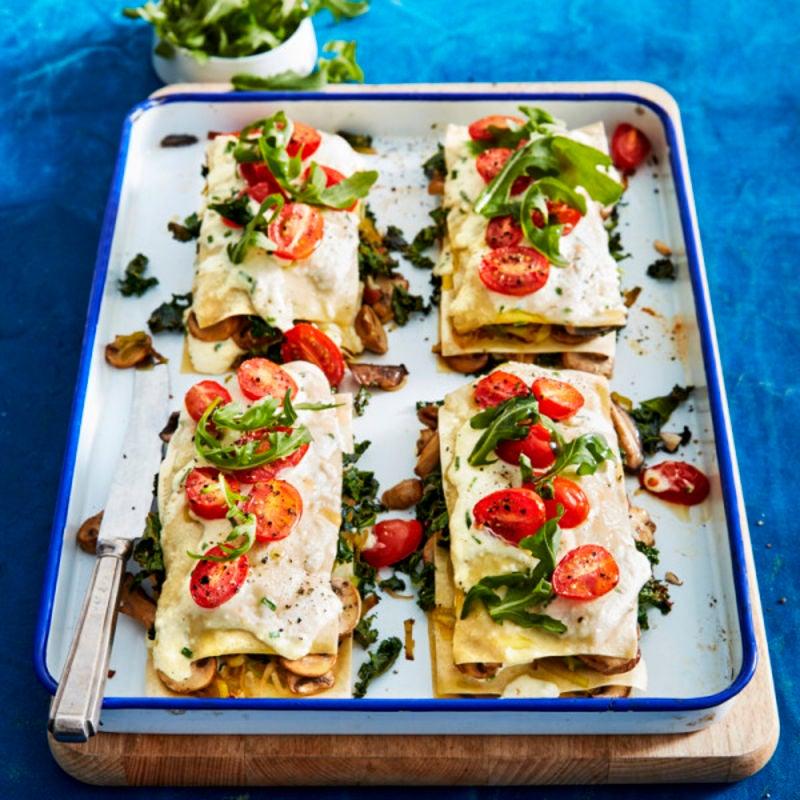 Photo de/du Lasagnes aux champignons, chou kale et ricotta par WW