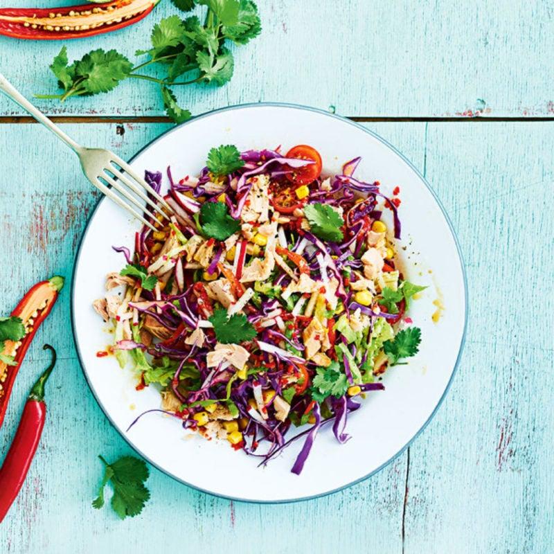 Photo de/du Salade de chou au thon et piment par WW