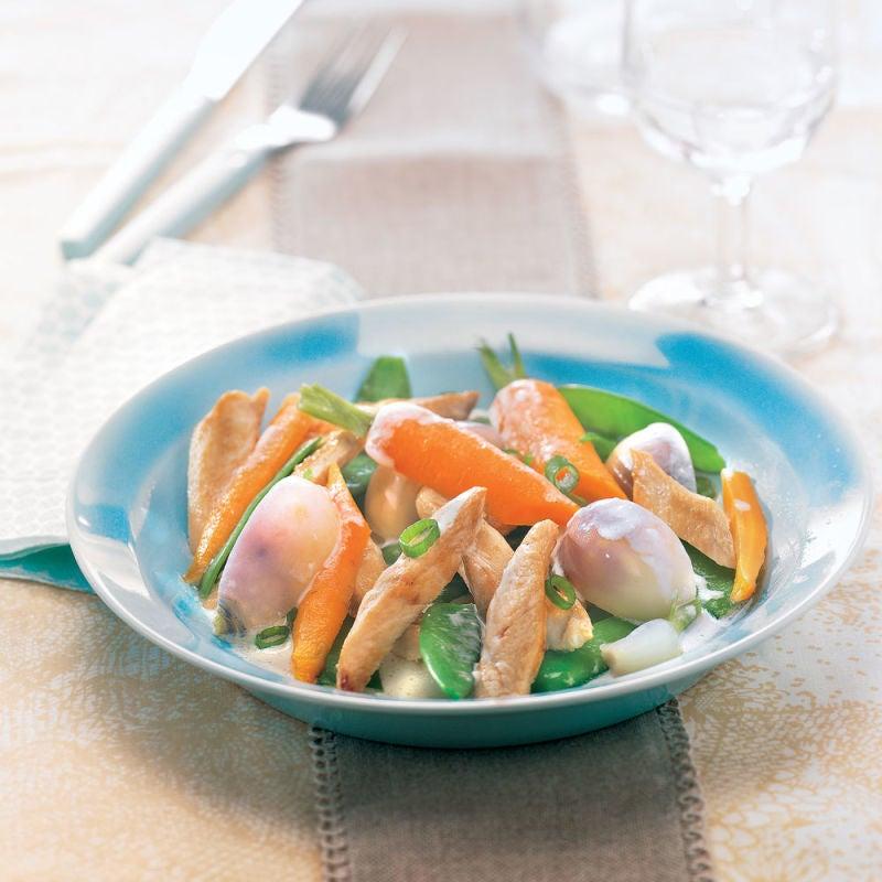 Photo de/du Pintade aux petits légumes par WW