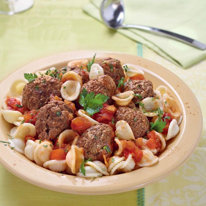 Photo de/du Orecchiette à la tomate et boulettes de boeuf par WW
